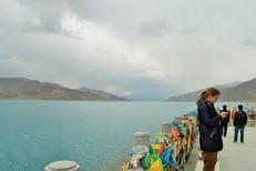 Yamdrok Lake en route to Gyantse