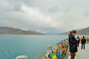Yamdrok Lake en route to Gyantse