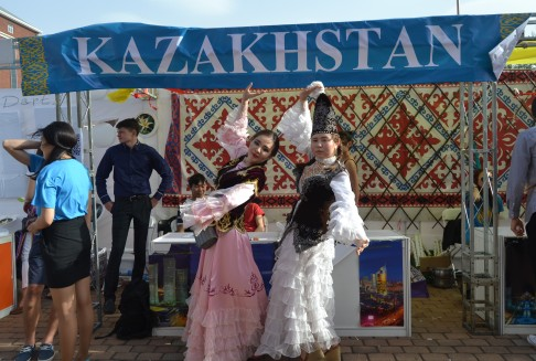 Kazakhstan...this ladies sure know how to impress the photographer